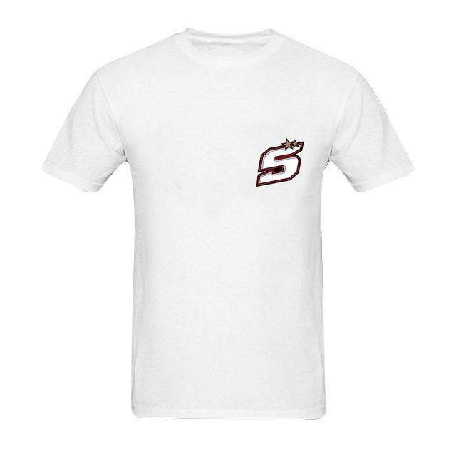 T-shirt Johann Zarco 5 numéro de course blanc