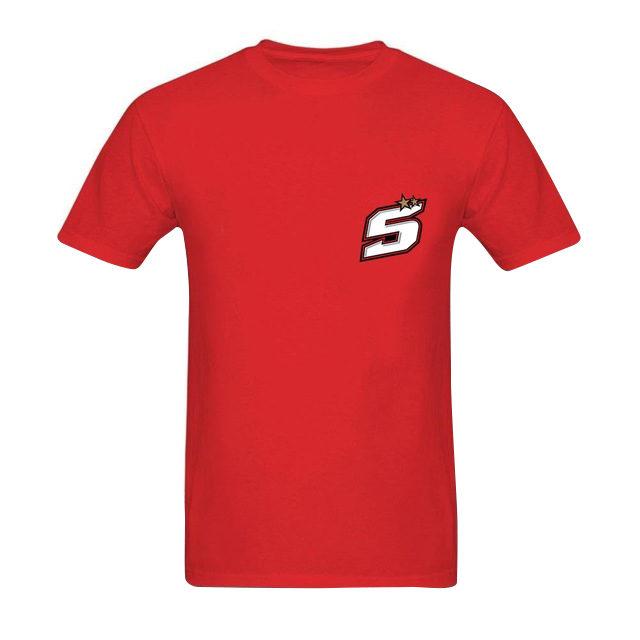 T-shirt Johann Zarco 5 numéro de course rouge